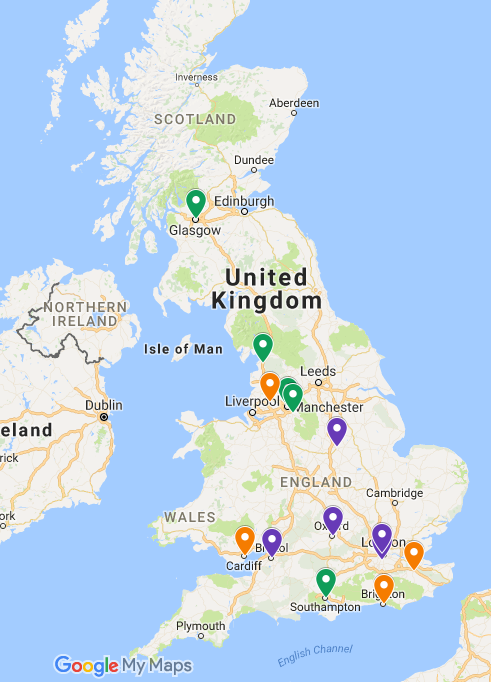 Map of Trial sites